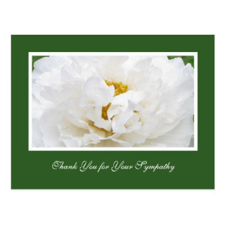 Sympathy Thank You Postcard