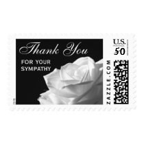 Sympathy Thank You Stamps - Rose