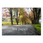 Sympathy Time Passes Card