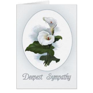 Sympathy, White Calla Lilies Card