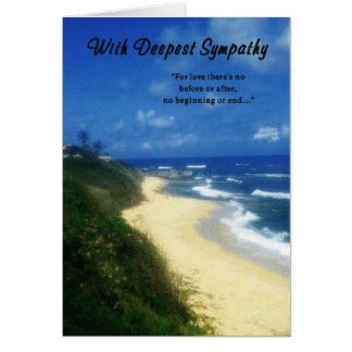 Sympathy-With Deepest Sympathy Card