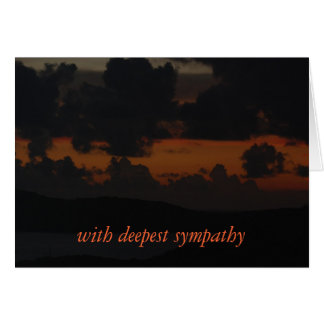 Sympathy - With deepest sympathy sunset Greeting Card