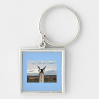Sympathy: You Are Not Alone Llama Keychain