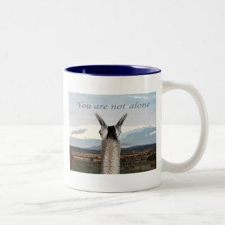 Sympathy: You Are Not Alone Llama Two-Tone Coffee Mug