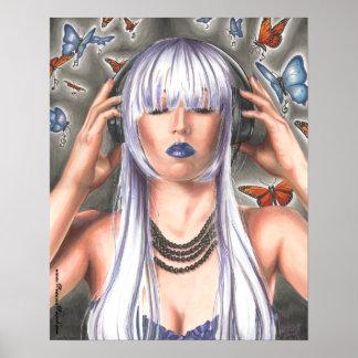 Symphonic Butterflies Poster Music Poster