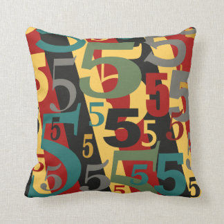 Symphony # 5 Fifth or Fiftieth Birthday Annivesary Throw Pillow