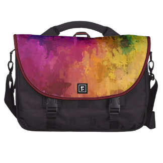 Symphony of colors drip paint art by healing love laptop bags