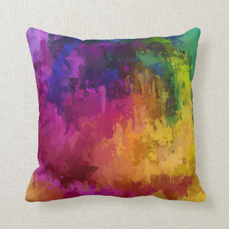 Symphony of colors drip paint art by healinglove throw pillows