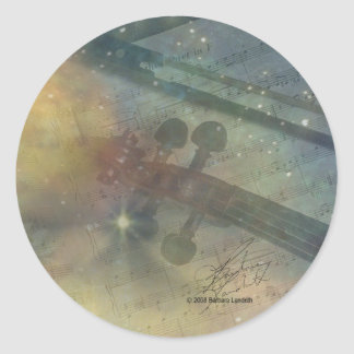 Symphony of Stars Classic Round Sticker