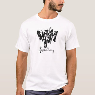 SYMPHONY orchestra  in a stylized design T-Shirt