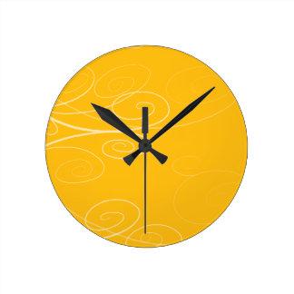 Symphony Swirl Round Wall Clock
