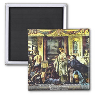 Symposium Of Plato (Ii), By Feuerbach Anselm 2 Inch Square Magnet