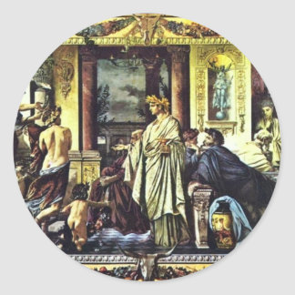 Symposium Of Plato (Ii), By Feuerbach Anselm Round Stickers