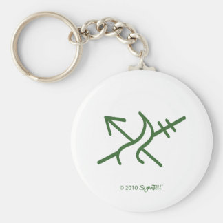 SymTel Green Courageous Symbol Keychain