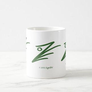 SymTell Green Assertive Symbol Coffee Mug