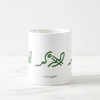 SymTell Green Carefree Symbol Mug