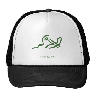 SymTell Green Carefree Symbol Trucker Hat