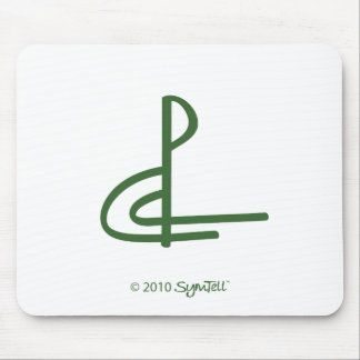 Symtell Green Competitive Symbol Mouse Pad