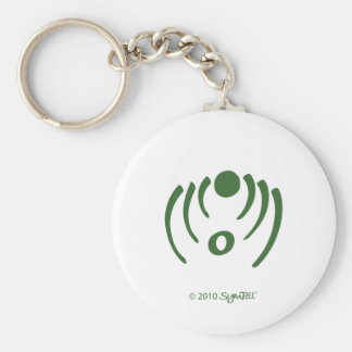 SymTell Green Critical Symbol Basic Round Button Keychain