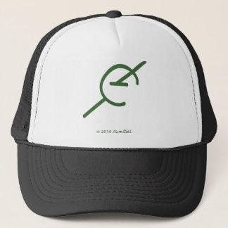 SymTell Green Decisive Symbol Trucker Hat
