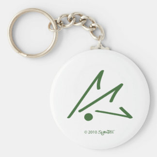 SymTell Green Defensive Symbol Keychain