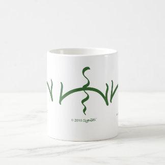 SymTell Green Dishonor Symbol Coffee Mugs