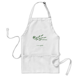 SymTell Green Extroverted Symbol Adult Apron