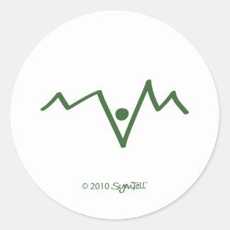 SymTell Green Helpless Symbol Classic Round Sticker