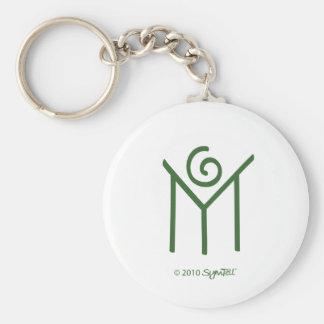 SymTell Green Humble Symbol Keychain