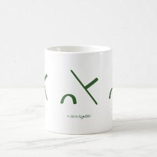 SymTell Green Intimidated Symbol Coffee Mug