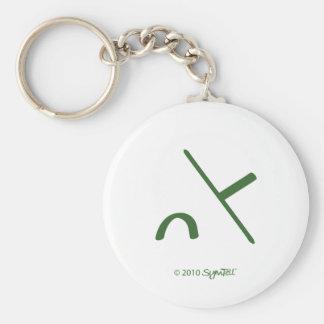 SymTell Green Intimidated Symbol Keychain