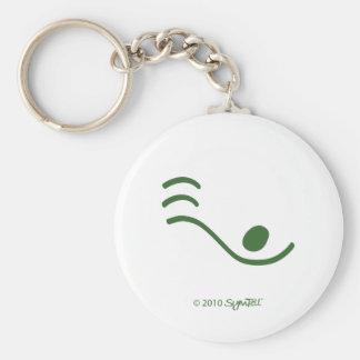SymTell Green Loner Symbol Keychain