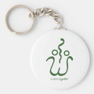 SymTell Green Loving Symbol Keychain