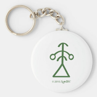 SymTell Green Perfectionism Symbol Keychain