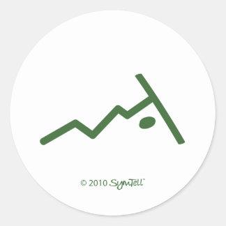 SymTell Green Rebellious Symbols Classic Round Sticker