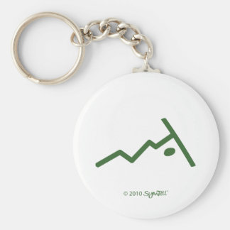 SymTell Green Rebellious Symbols Keychain