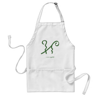 SymTell Green Refined Symbol Adult Apron