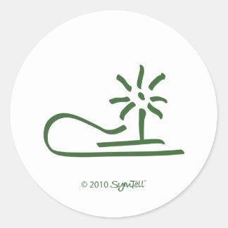 SymTell Green Resentful Symbol Classic Round Sticker