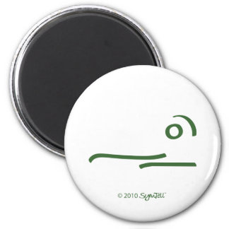 SymTell Green Scattererd Symbol 2 Inch Round Magnet