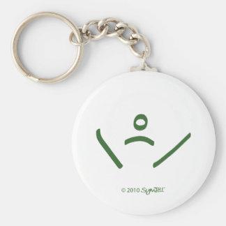 SymTell Green Vulnerable Symbol Keychain