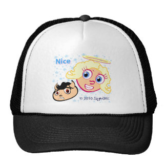 SymTell Nice Winner and Naughty Loser Mesh Hats