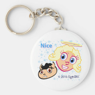 SymTell Nice Winner and Naughty Loser Keychains