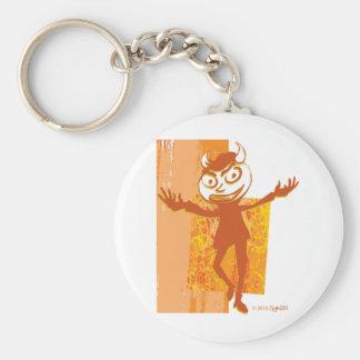 SymTell Orange Layered Naughty Dancer Keychains