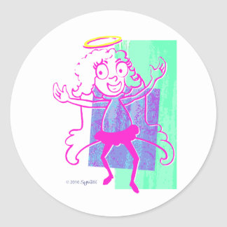 SymTell Pink Layered Nice Dancer Classic Round Sticker