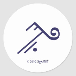 SymTell Purple Accepting Symbol Sticker
