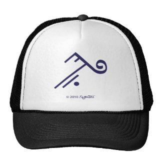 SymTell Purple Accepting Symbol Trucker Hat