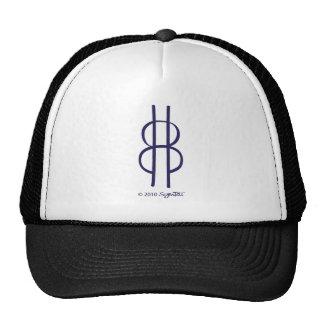SymTell Purple Cautious Symbol Trucker Hat