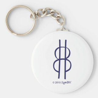 SymTell Purple Cautious Symbol Key Chains