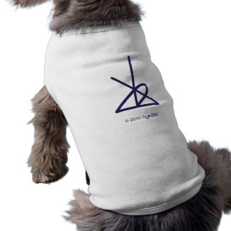 SymTell Purple Disciplined Symbol Dog Tee