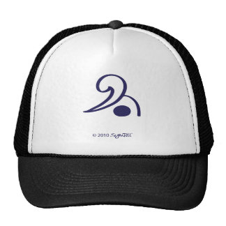 SymTell Purple Grumpy Symbol Trucker Hats